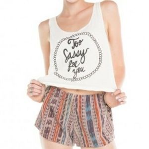 "Brandy Melville ""Too Sassy For You"" Cropped Tank"
